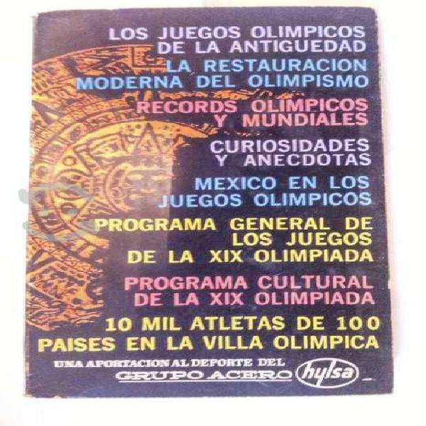 Los juegos olímpicos - olimpiada méxico 68.