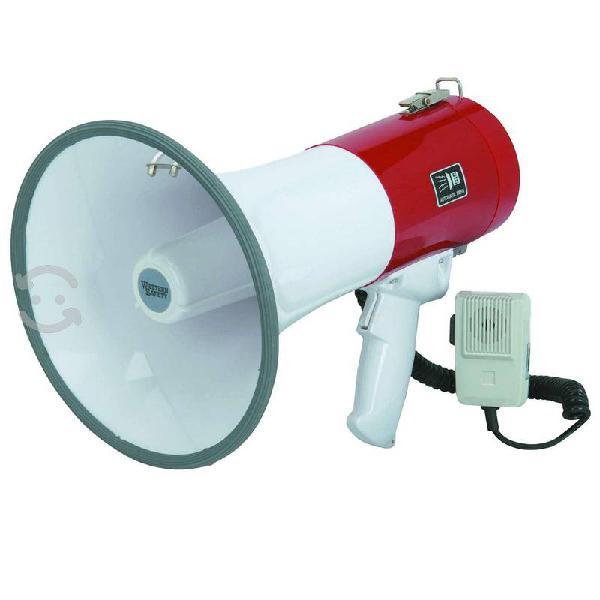 Megáfono 50 w potencia incluye sirena y micrófono