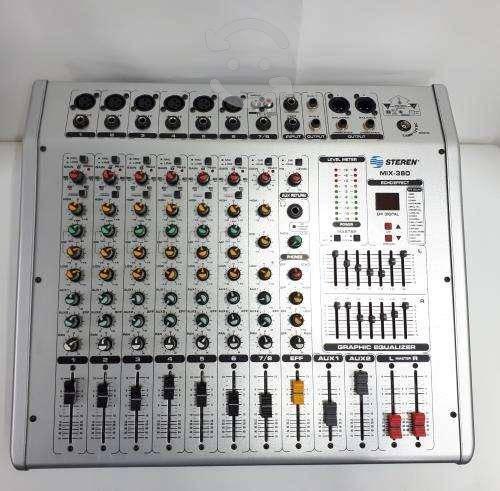 Mezcladora steren 8 canales mix 380