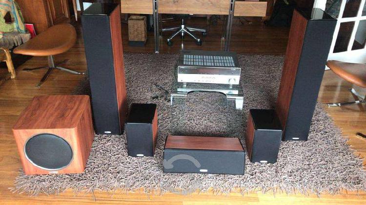 Teatro casero polk audio con receptor yahama