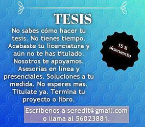 Tesis, tesinas, corrección, masters