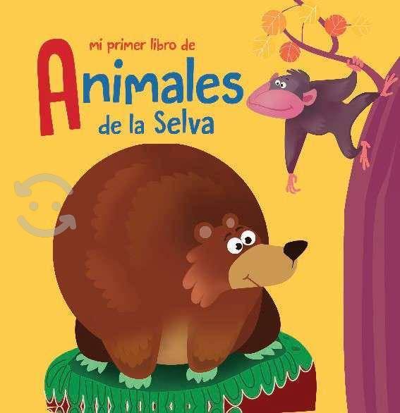 Animales de la selva libro de tela oso