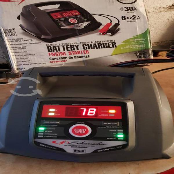 Cargador de baterías schumacher.