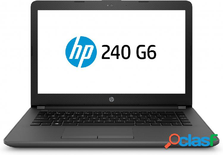 Laptop hp 240 g6 14'' hd, intel core i3-6006u 2ghz, 4gb, 500gb, windows 10 home, negro