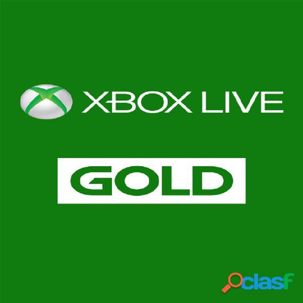 Xbox live gold, 1 mes - producto digital descargable
