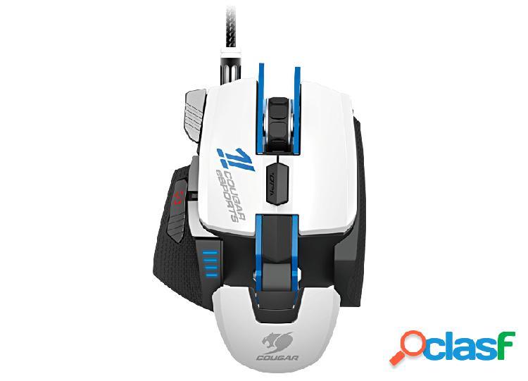 Mouse gamer cougar láser 700m esports, alámbrico, usb, 8200dpi, blanco