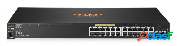 Switch hpe gigabit ethernet 2530-24g-poe+, 24 puertos 10/100/1000mbps + 4 puertos sfp, 56gbit/s - gestionado