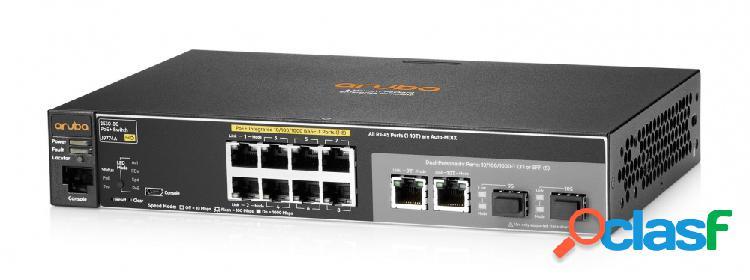 Switch hpe gigabit ethernet 2530-8g-poe+, 20 gbit/s, 8 puertos, 16.000 entradas - gestionado