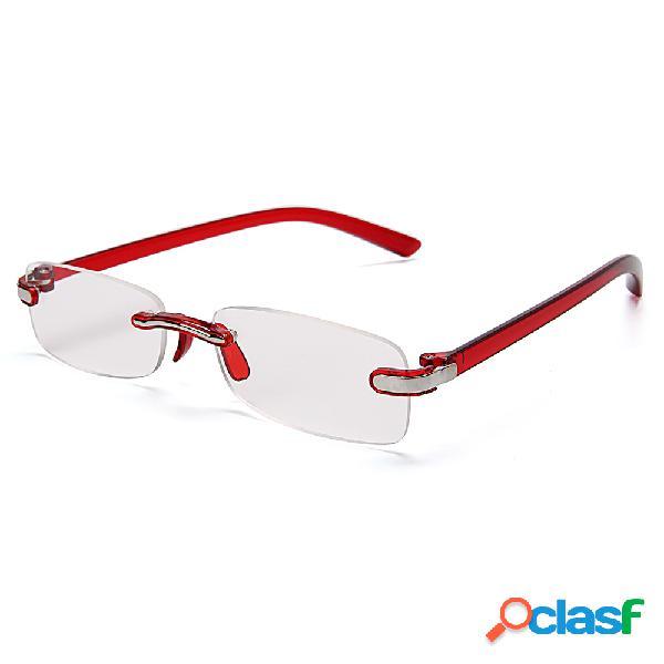 Mujer hombre sin marco pc piernas resina lente plegable ligero moda gafas de lectura lindas