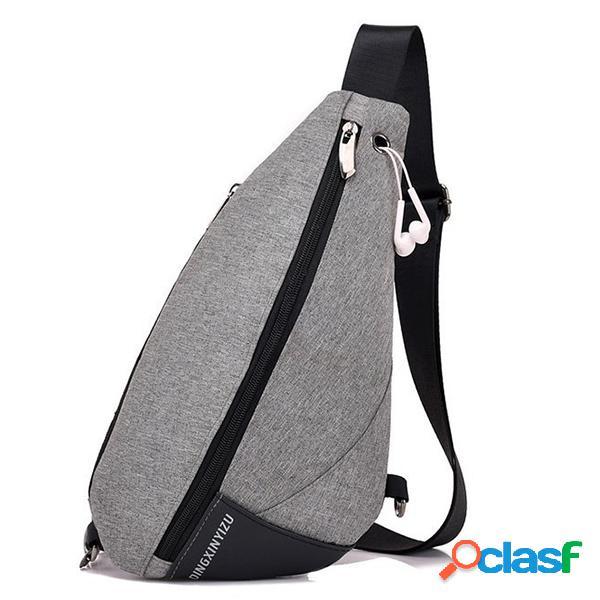 Oxford casual chest bolsa sling bolsa crossbody bolsa para hombres