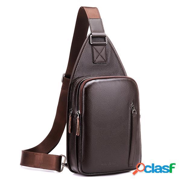 Cofre casual de negocios de gran capacidad bolsa sling bolsa crossbody bolsa para hombres