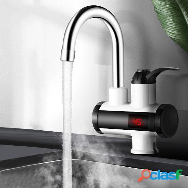 Agua de cocina eléctrica de 3000 w calentador grifo de agua caliente instantánea calentador grifo de calefacción fría sin tanque agua instantánea calentador