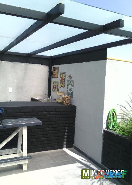 pergolas y techos de madera, acero y aluminio
