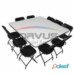 Vendo sillas y mesas plegables norvus