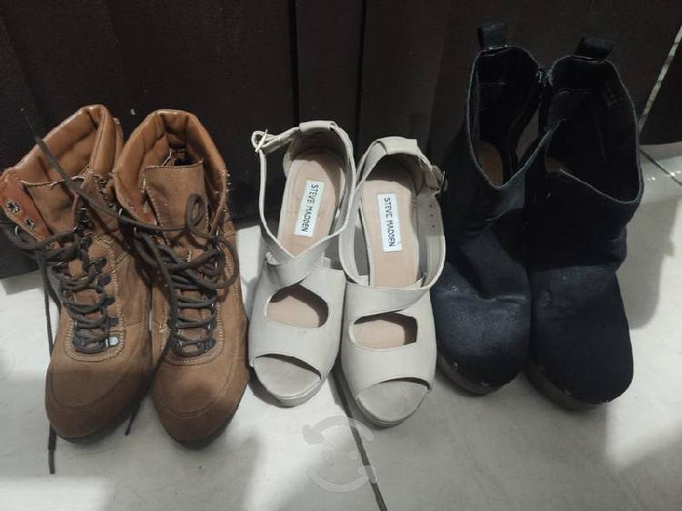 3 pares de zapatos mujer numero 25