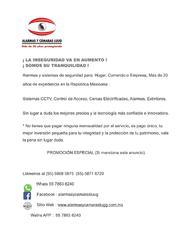 Alarmas y cámaras cctv