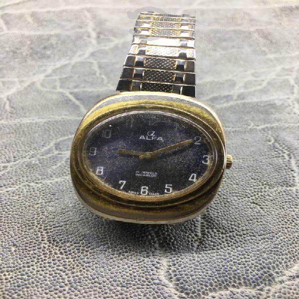 Antiguo reloj alfa ojo de tigre