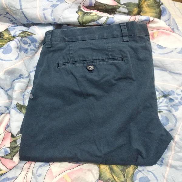 Pantalón de gabardina corte slim
