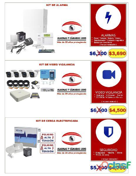 Cámaras de seguridad y alarmas