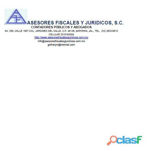 Servicios de contador publico y abogados