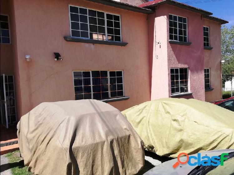Colinas del lago departamento en renta planta baja 3 rec 2 garajes