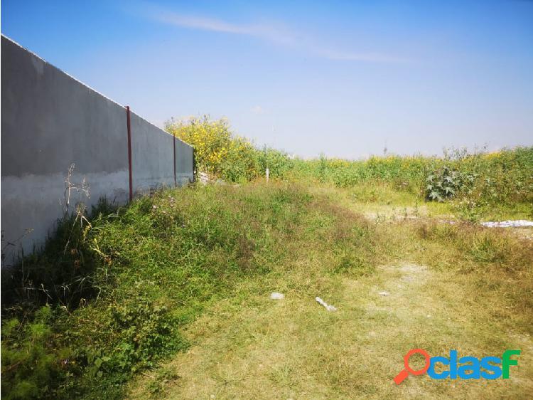 Terreno en venta cerca de complejo de seguridad de tlaxcalancingo