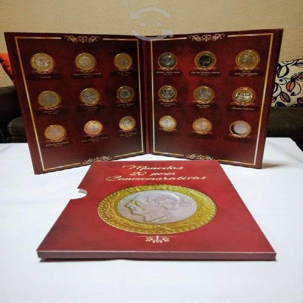 Album lleno monedas de $20 conmemorativas!!!