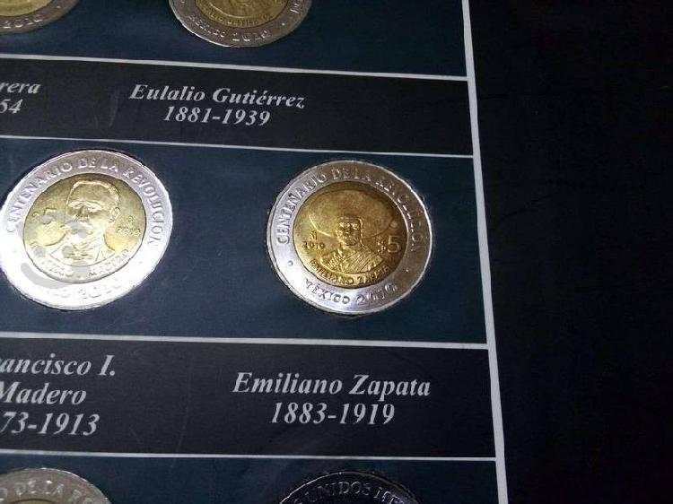 Colección monedas de 5 pesos bicentenario
