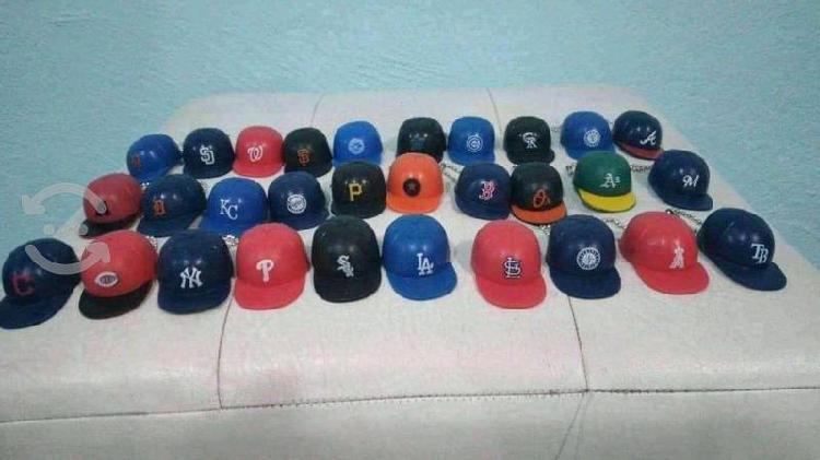 Colección gorras miniatura de plástico béisbol mlb