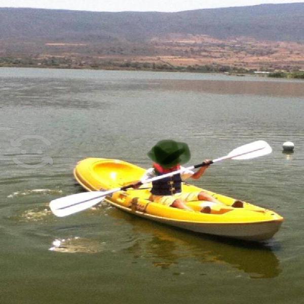 Kayak doble de fibra de vidrio