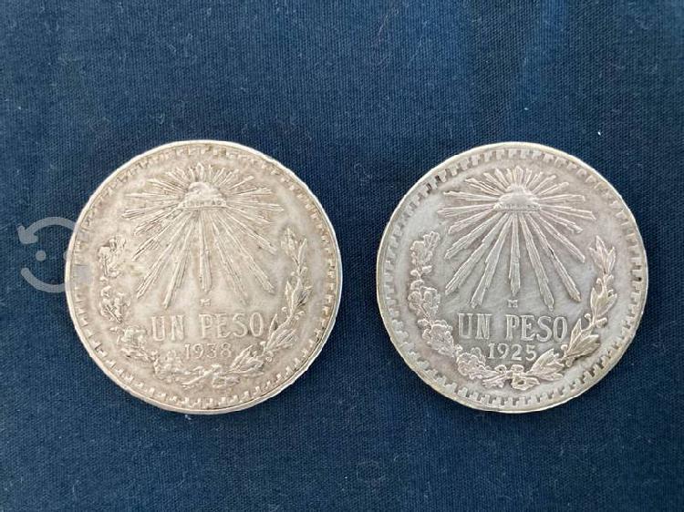 Monedas de 1 peso plata 0.720