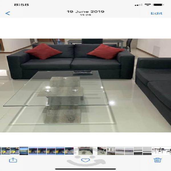 Sala miranda gris lino love seat