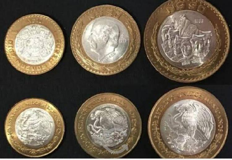 Compro monedas nuevos pesos y estados