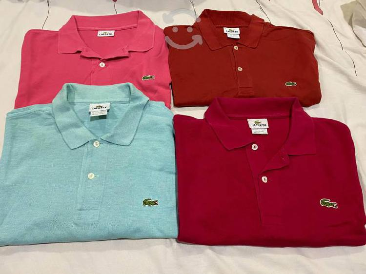 5 polos chemise lacoste originales seminuevas