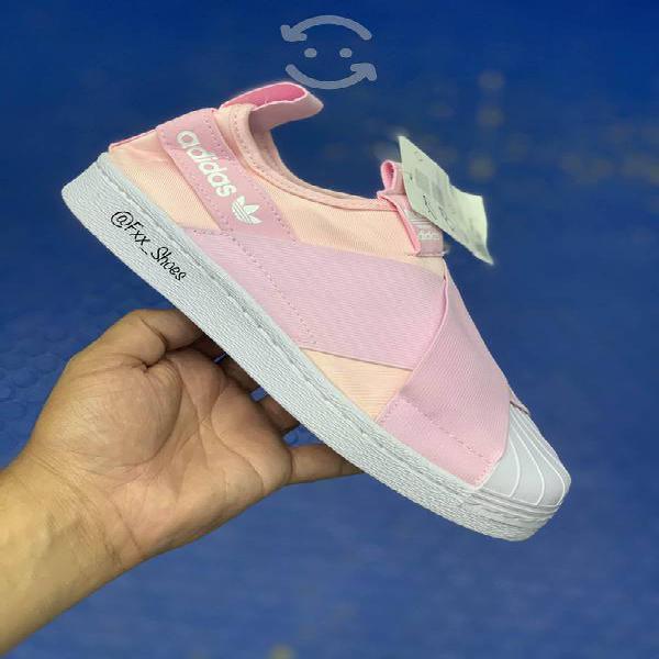 "Adidas superstar slip on ""pink"""