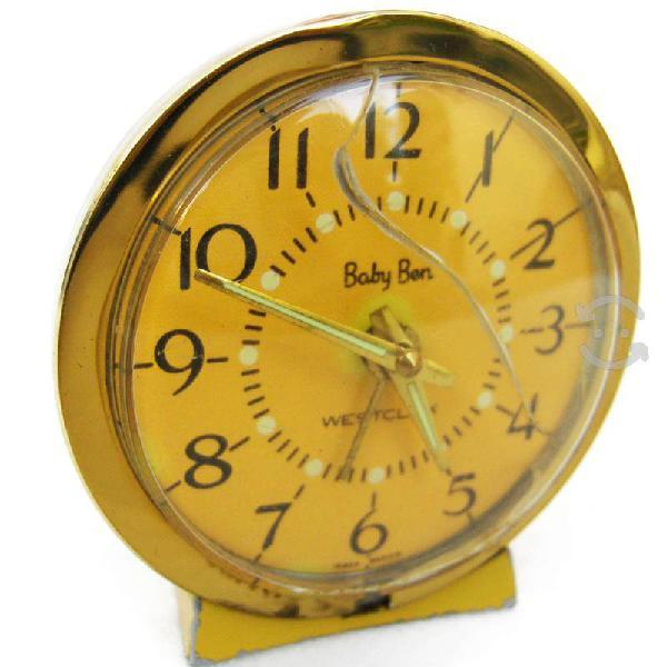 Antiguo reloj año 1962 westclox baby ben mod.77