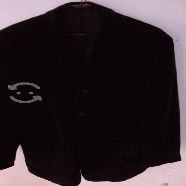 Blazer de pana negro, seminuevo talla 38 claiborne