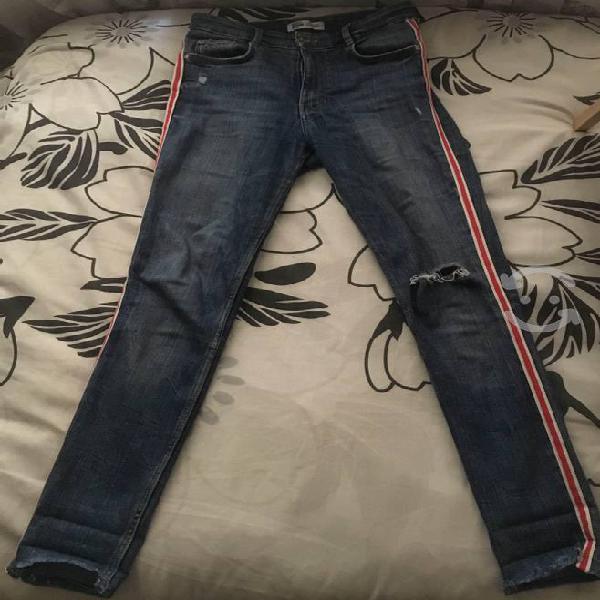 High rise skinny jeans zara