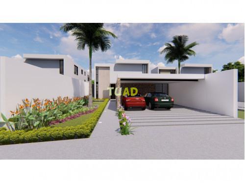 Venta casa en mérida, privada arbórea lote 120
