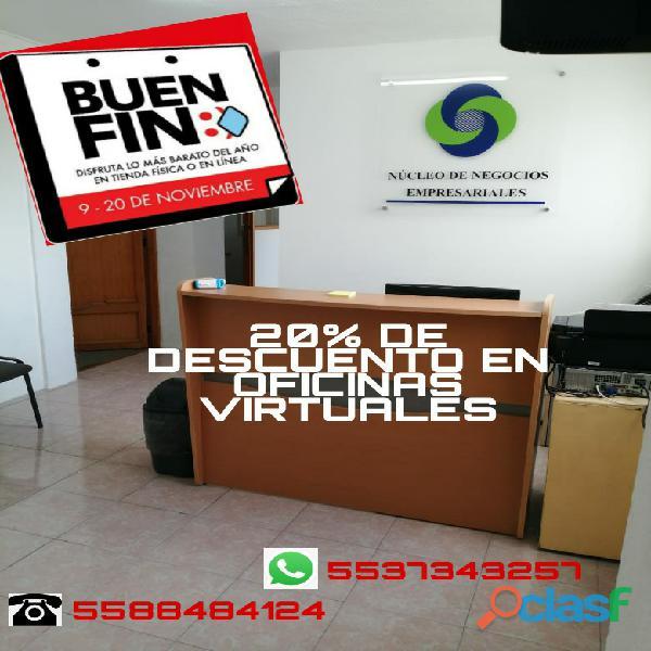 Ofrecemos servicio de oficinas virtuales