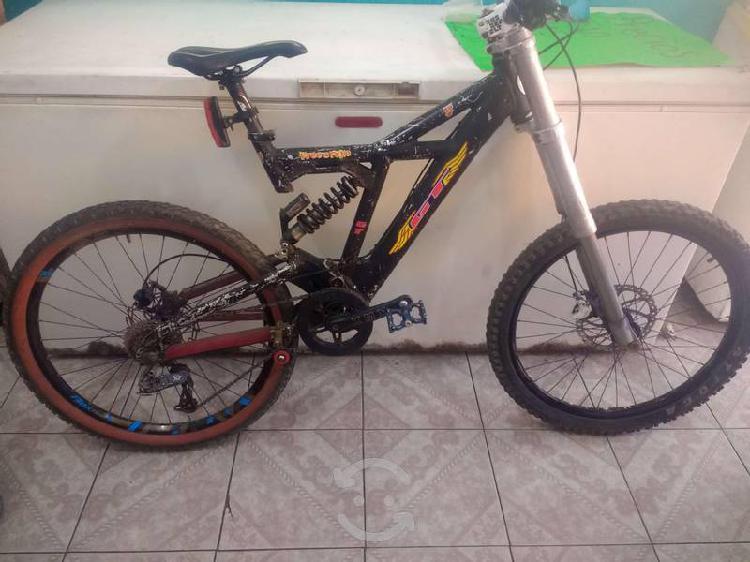 Bicicleta de downhill gt