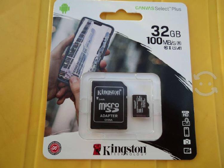 Memorias micro sd 32 gb kingston