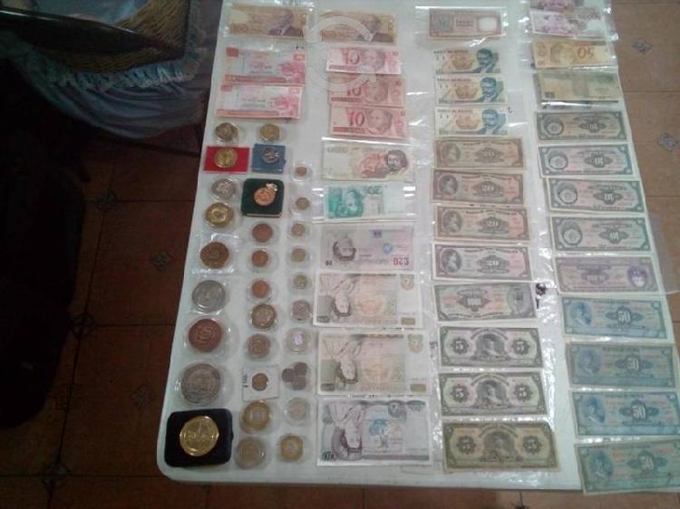 Remato 70 piezas de monedas y billetes d colección