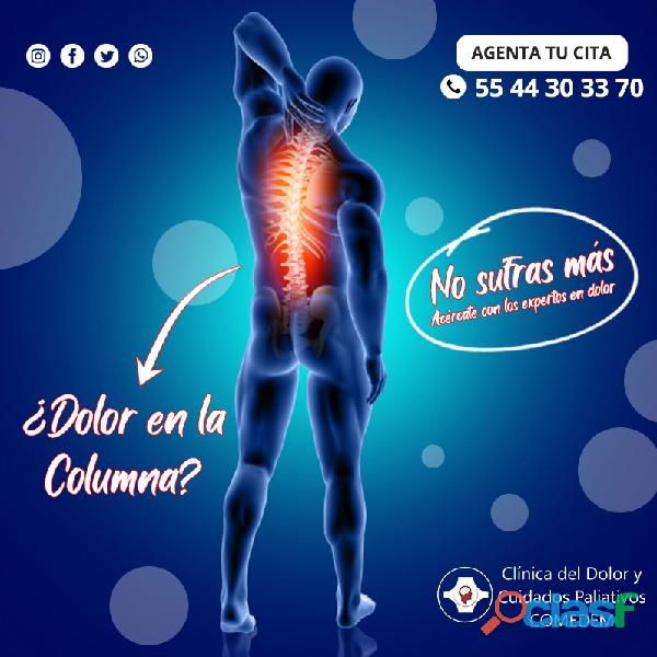 ¿dolor intenso en la columna que dificulta el movimiento?
