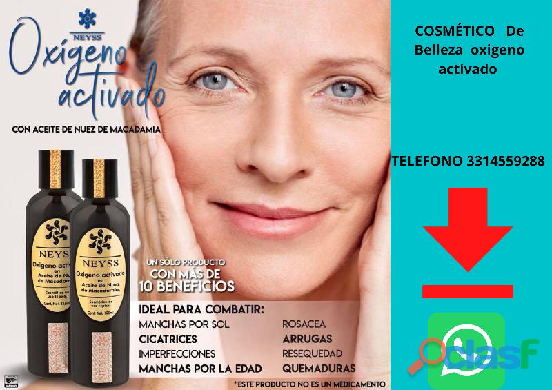 Oxígeno activado en aceite de nuez de macadamia belleza para tu piel