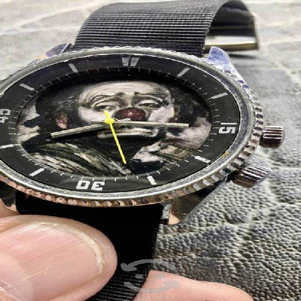 Reloj de colección payaso triste