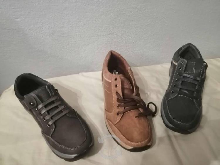 Par de zapatos furor piel y gamuza nuevos