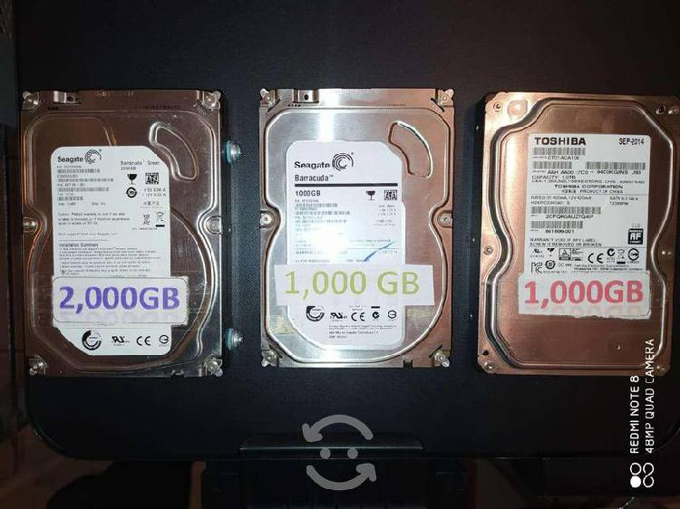 Discos duros para pc y laptop o xbox