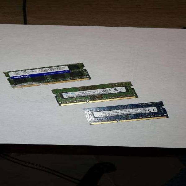 Memorias ram ddr3 para laptop de 4gb