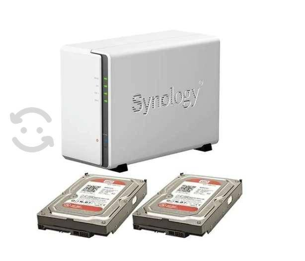 Nas synology ds215j + 4 tb (2 discos duros wd red)